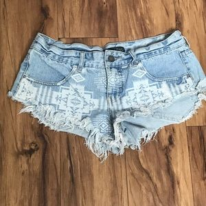 BILLABONG Aztec Denim Shorts